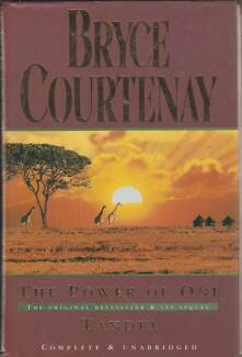 THE POWER OF ONE / TANDIA Bryce Courtenay ~ Large HC/DJ 1993 Perth Region Preview