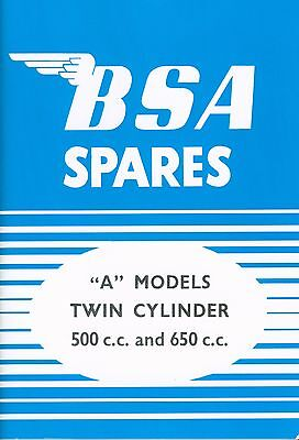 BSA A7 A10 Parts Book Swinging Arm and Plunger 1954-57 Printed in UK Star Rocket