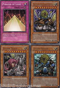 3 Ultra Rare Sphinx Cards & Pyramid of Light YuGiOh Cards NEW EP1 MOV FREE POST