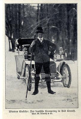 Deutsch Lederhosen (Der deutsche Kronprinz in Lederhosen in Bad Kreuth von 1907)