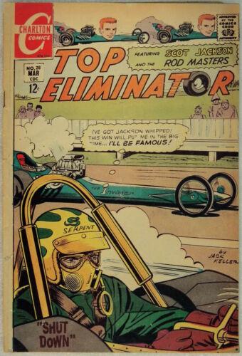 Top Eliminators No 28, Charlton March 1968, Silver Age Hot Rod Comic Jack Keller