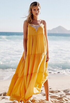 NWT FREE PEOPLE PENELOPE MAXI SLIP DRESS SIZE L LARGE $128 SOLD OUT