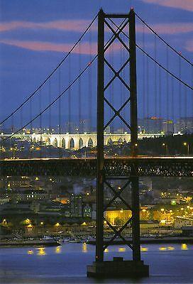 Ansichtskarte: Lissabon , Ponte 25 de Abril, die Brücke über den Tejo, Aqueduto