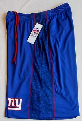 NEW YORK GIANTS TX3 COOL MEN'S COACHES SHORTS BLUE RED  M L XL 2X POCKETS 2016  - New York Giants Blue Coaches