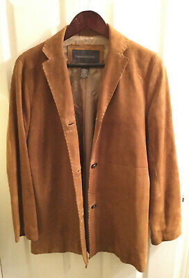Banana Republic Brown Suede 3 Button Sport Jacket Sze Small Only Interior -