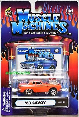 Muskel Maschinen '63 Savoy GS02-01 Orange 1:64 Waage +