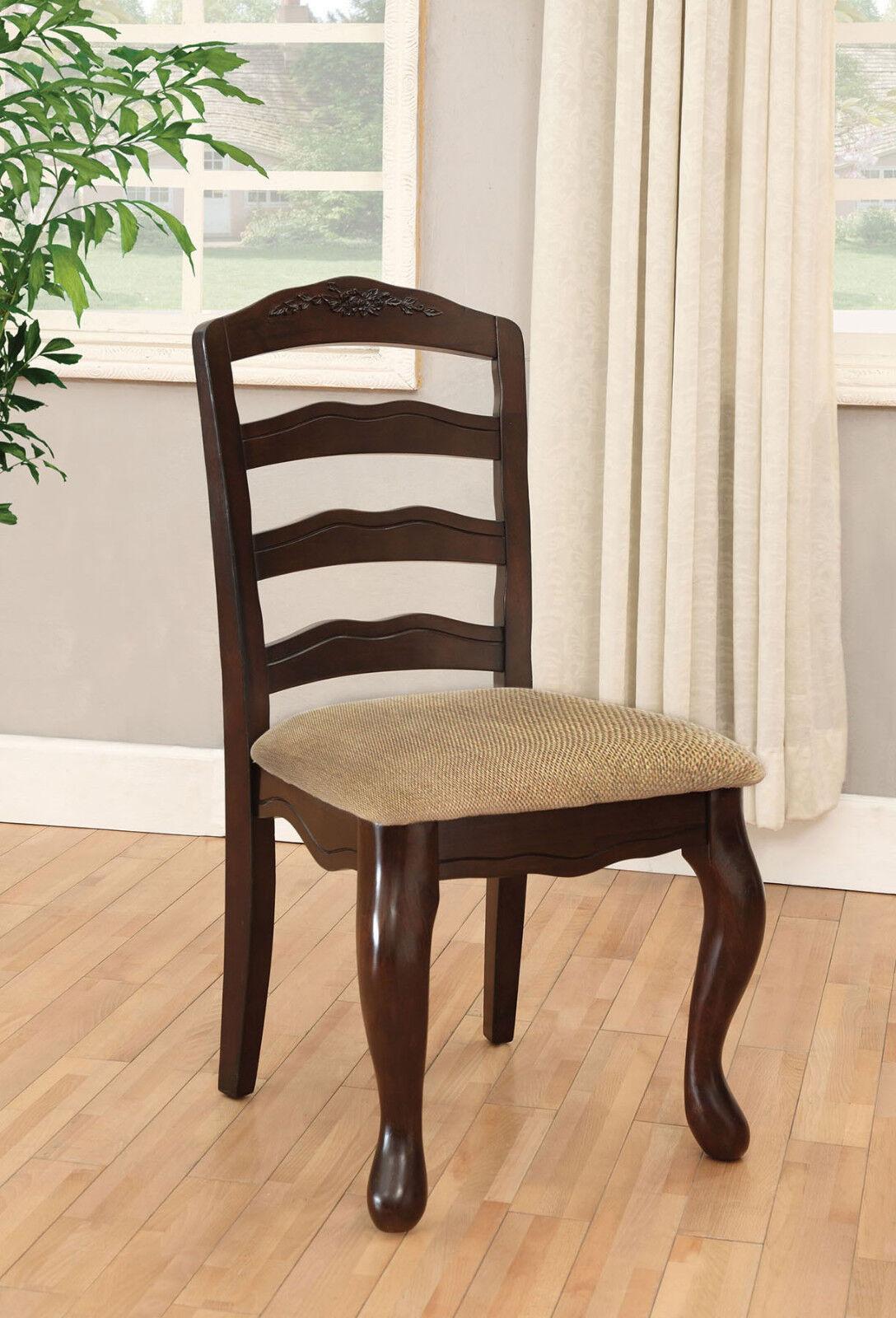 Modern Townsville Set of 4pc Side Chairs Dark Walnut Wood Dining Furniture