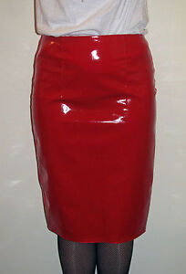 Shiny-Pvc-vinyl-pencil-skirt