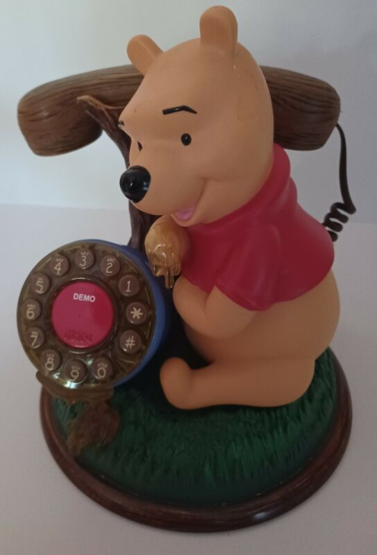 Disney WINNIE THE POOH Desk Phone Corded Telephone Push Button Telemania.1998
