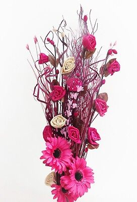 Cerise pink Flower Bouquet perfect for a vase  GIFT weddings -