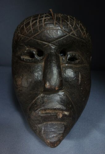 Vintage Antique Hand carved Culebra Dance Mask from Quiche, Guatemala