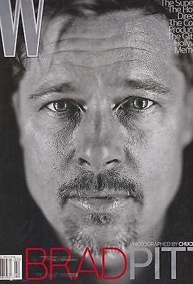 W MAGAZINE FEB 2009, Brad Pitt,Lara Stone,Amanda Laine,Gus Van Sant, THE A-LIST.