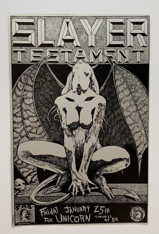 Frank Kozik Slayer Original 1991 Concert Poster