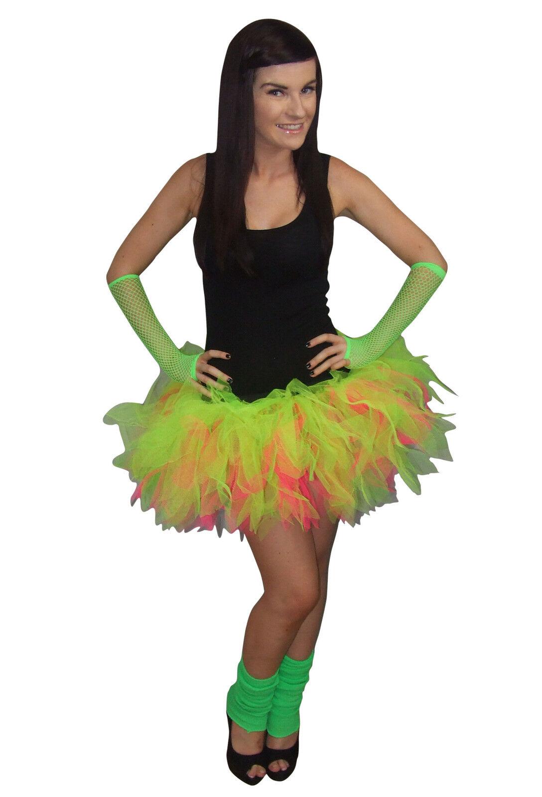 New Ladies Girls St Patrick's day Green Tutu Skirt Fancy Dress Layered Skirts