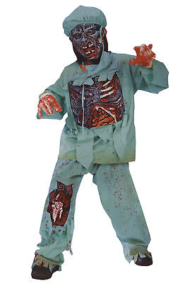 Zombie Doctor Child Boys Costume Rotted Chest Halloween Dress Up - Boys Dress Up Chest
