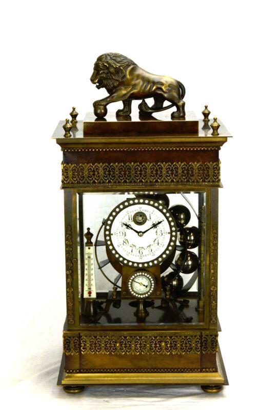 Mystery French Style Ferris Wheel Falling Ball Brass Industrial Regulator Clock