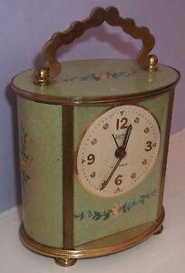 Very Nice Swiza Mignon 17 Jewels Carriage Musical Alarm Clock