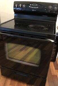 Maytag electric range and microwave/hood fan