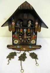 Vintage Swiss Musical Movement Floral Cuckoo Clock (P/R)