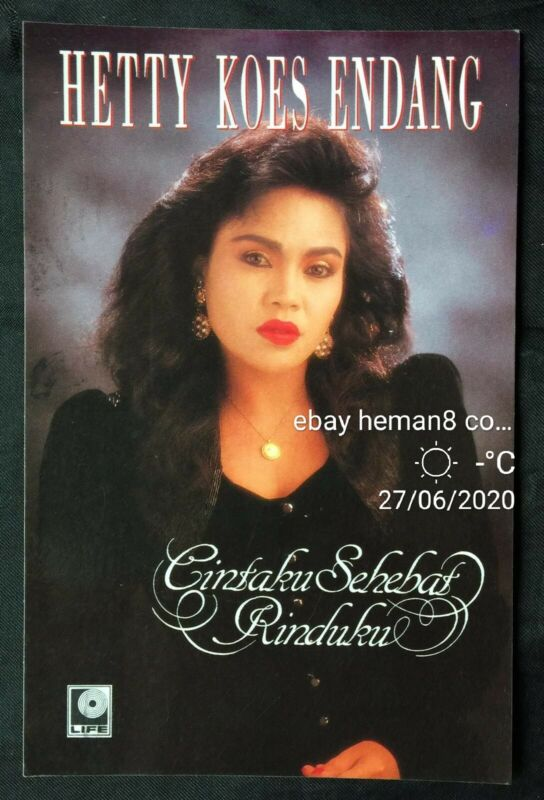 1990 Hetty Koes Endang Indonesian Singer Life Records official postcard