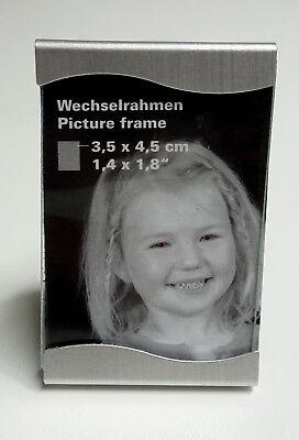 Rahmen für Passbilder 3,5x4,5 Silver Star Wave Neu & OVP (Silver Star Dekorationen)