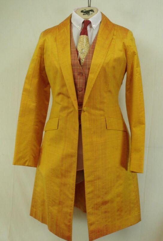 Reed Hill Saddleseat Day Coat Irridescent Yellow Dupioni Silk size 18 - USA