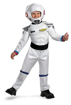 Boys Astronaut Costume Space Suit Blast Off Toddler Childs Kids White MUSCLE - Costume For Boy Toddler