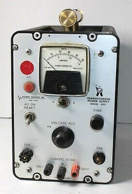 Power Designs Model 5015 Transistorized Power Supply 1-50 Vdc 0-1.5a