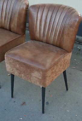 ital. klassischer Stuhl dickes Leder Ledersessel  Polsterstuhl Lederstuhl braun ()