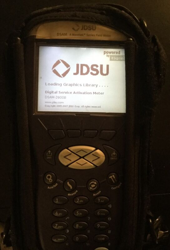 JDSU DSAM-2600B Cable Tester Good Condition