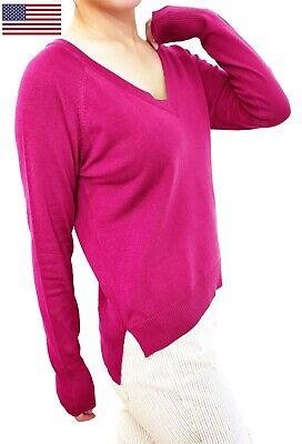 Soft V-neck Jumper - Women Pullover Top Jumper Sweater Soft Knit V Neck Fitted or Loose Cardigan