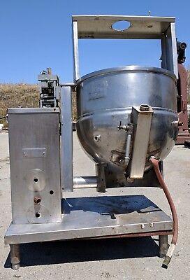 Groen Dh-40 Tilting Natural Gas Steam Kettle 100000 Btu. No Agitator