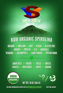Raw Organic Spirulina 1lb