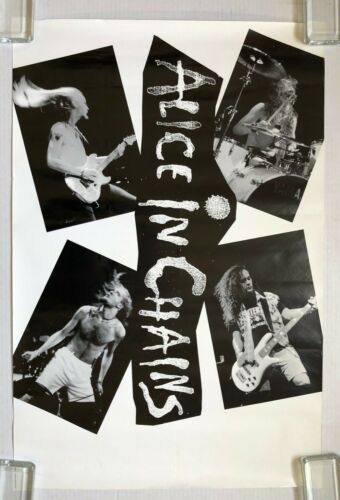 ALICE IN CHAINS 1990 US PROMO Only POSTER Facelift Jerry CANTRELL Layne STALEY