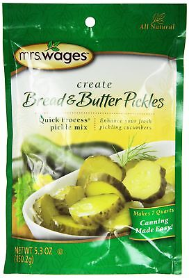 Mrs. Wages Bread n Butter Pickle Mix, 5.30-Ounce Packets, (Pack of 6) ()