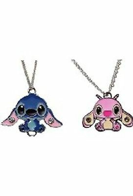(Lilo & Stitch Movie STITCH & ANGEL Metal/Enamel PENDANT with 17