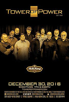 TOWER OF POWER 2016 NEW YORK CITY CONCERT TOUR POSTER-R&B, Soul, Jazz Funk Music
