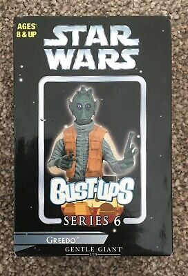 Star Wars Gentle Giant Series 6 Bust-Ups Greedo New In Box