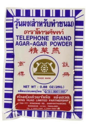 6 x 25gPack - Agar Agar Powder  - Vegetarian Gelatin Substitute