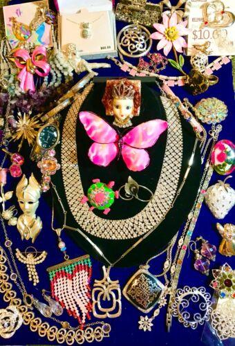Vintage to Modern Rhinestone Designer Jewelry Lot Brighton Sterling Emmons 925