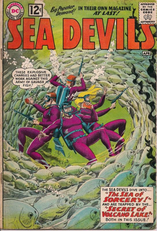 SEA DEVILS #4 (1962) DC Comics VG+