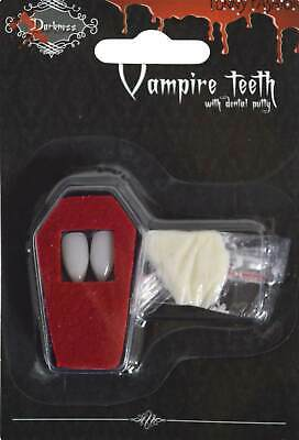 Vampirzähne Eckzähne Fangzähne Halloween Gruseldeko Deko - Vampir Zähne Halloween