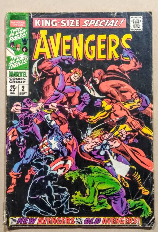 The Avengers  Annual #2 Bronze Age Collectible Comic 1963 1st Series Marvel!