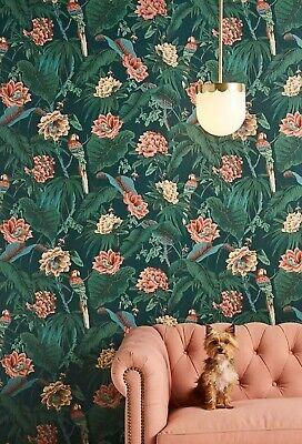 NEW 3 Roll Anthropologie Paradisa - Spruce- Green Wallpaper House Of Hackney