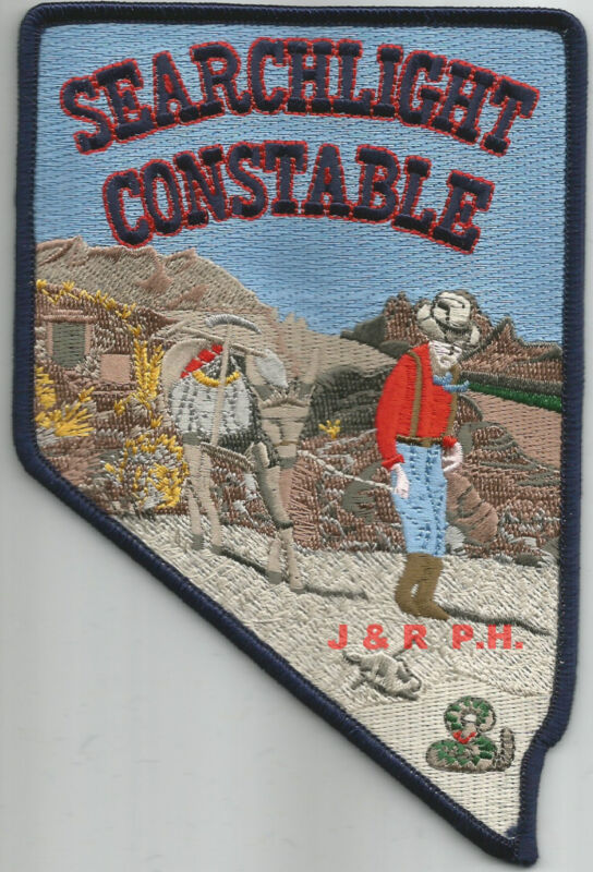 """Searchlight - Constable, Nevada (4"""" x 6"""" size)  shoulder police patch (fire)"""