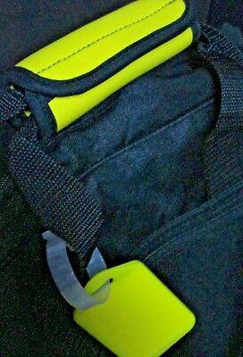 Luggage Handle Wrap - LUGGAGE TAG HANDLE GRIP YELLOW , NEOPRENE HANDLE WRAP, MATCHING YELLOW HANG TAG
