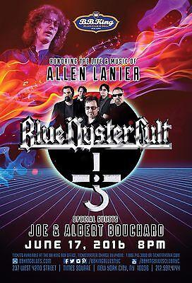 "BLUE OYSTER CULT ""HONORING ALLEN LANIER MUSIC"" 2016 NEW YORK CONCERT TOUR POSTER"