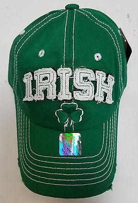 St. Patricks Day - IRISH - GREEN Embroidered Baseball Hat