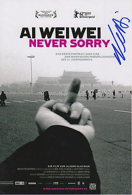 Ai Weiwei Autogramm signed 20x30 cm Bild