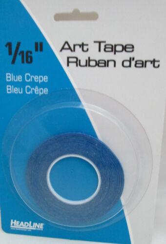 """Headline/Geotype 1/16"""" Art Tape - Blue Crepe #73164"""